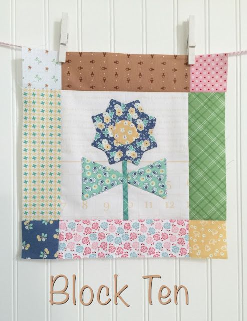 Bloom Sew Along Block 10 instructions featuring Lori Holt's Calico Days fabric collection #iloverileyblake #FabricIsMyFun