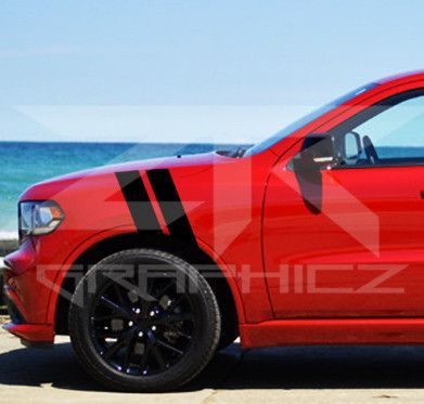 Dodge Durango Dual Fender Stripe, Hash Mark, Stripe Decal Graphic Kit