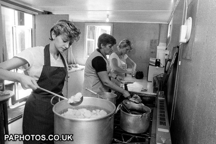 Miner's Strike - Soup Kitchen - Kellingley - 1984