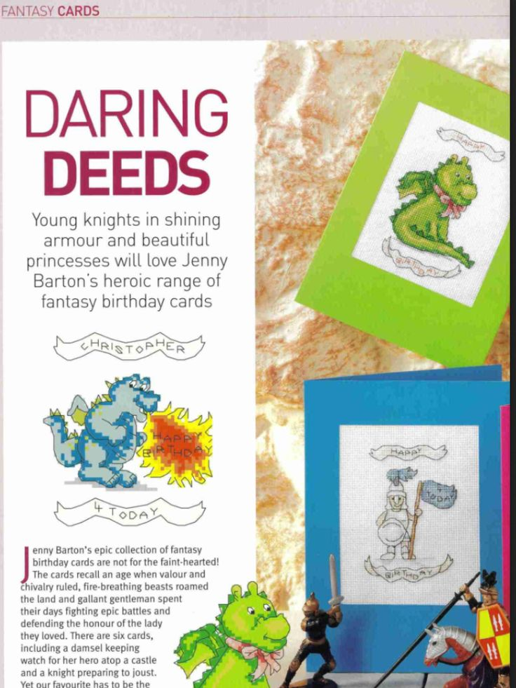 Fantasy Cards 1/2 Cross Stitch Card Shop Issue 46 Saved