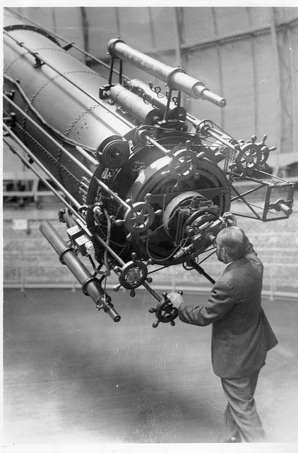 George A. Van Biesbroeck (1880-1974), astronomer at Yerkes Observatory observing Mars when it approached close to the earth in 1926, and using the 40 inch refracting telescope, the largest of its kind in the world