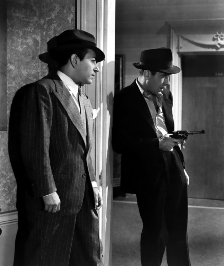 Bogart with George Raft - Invisible Stripes (1939) - Film also starred William Holden