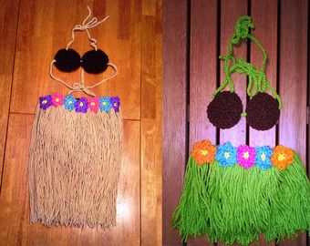 Luau Outfit Crochet Lua Outfit Lua Skirt by CozyLoveStitches