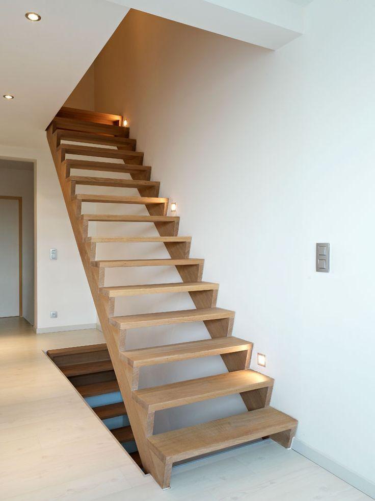 25 beste idee n over hout trapleuningen op pinterest for Dichte trap maken