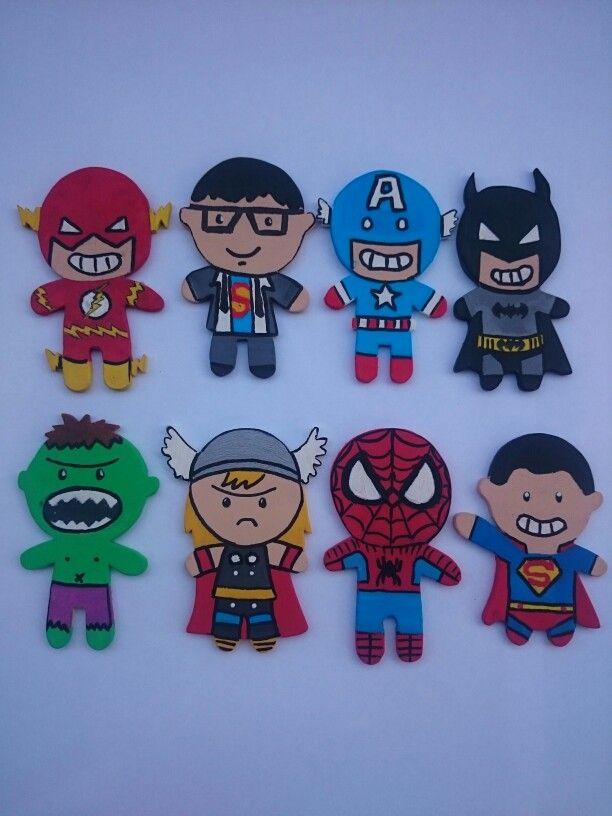Superheros hulk, ironman, batman, thor, superman, Spiderman, Flash Gordon, captain America