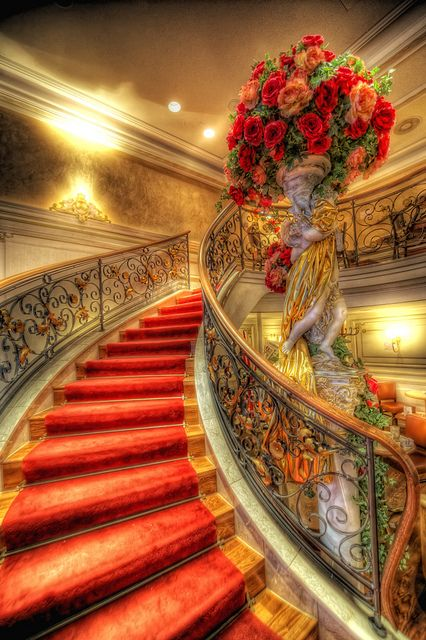 In my dreams I will descend this staircase in a knock-out black dress.