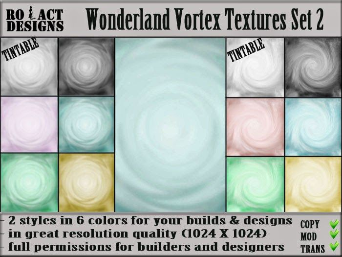 Ro!Act Designs 12 Wonderland Vortex Textures Set 2