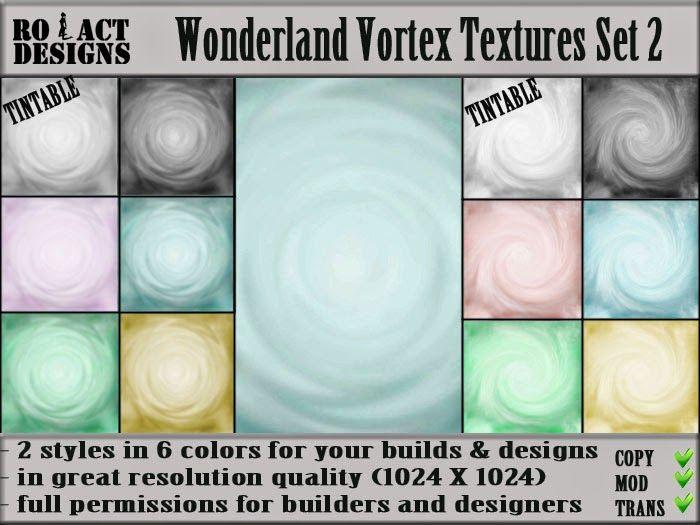 Ro!Act Designs 12 Wonderland Vortex Textures Set 2