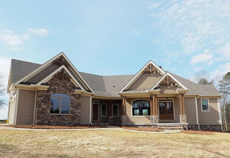 Angled Craftsman Home Plan with Outdoor Spaces - 36043DK | Craftsman, Mountain, Ranch, 1st Floor Master Suite, Bonus Room, Butler Walk-in Pantry, CAD Available, Jack & Jill Bath, PDF, Split Bedrooms | Architectural Designs