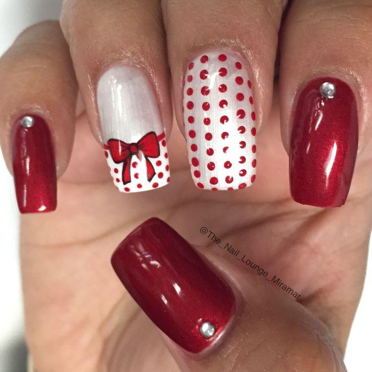 Christmas now dots nail art design