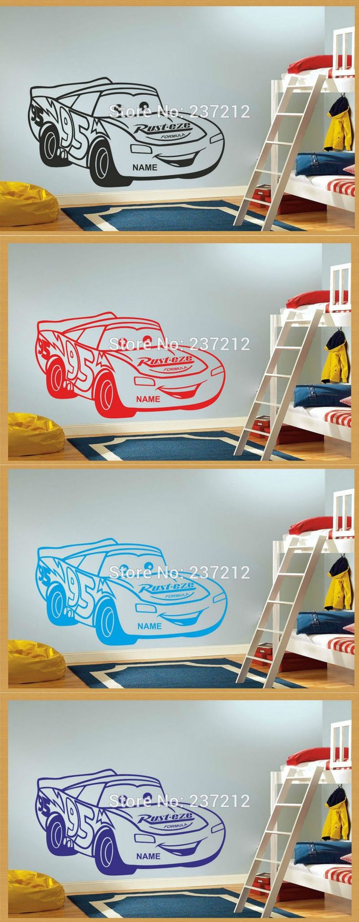 Design your own car sticker uk - Removable Cars Vinyl Wall Sticker Decal Mural Personalised Wall Sticker Kids Bedroom Decor