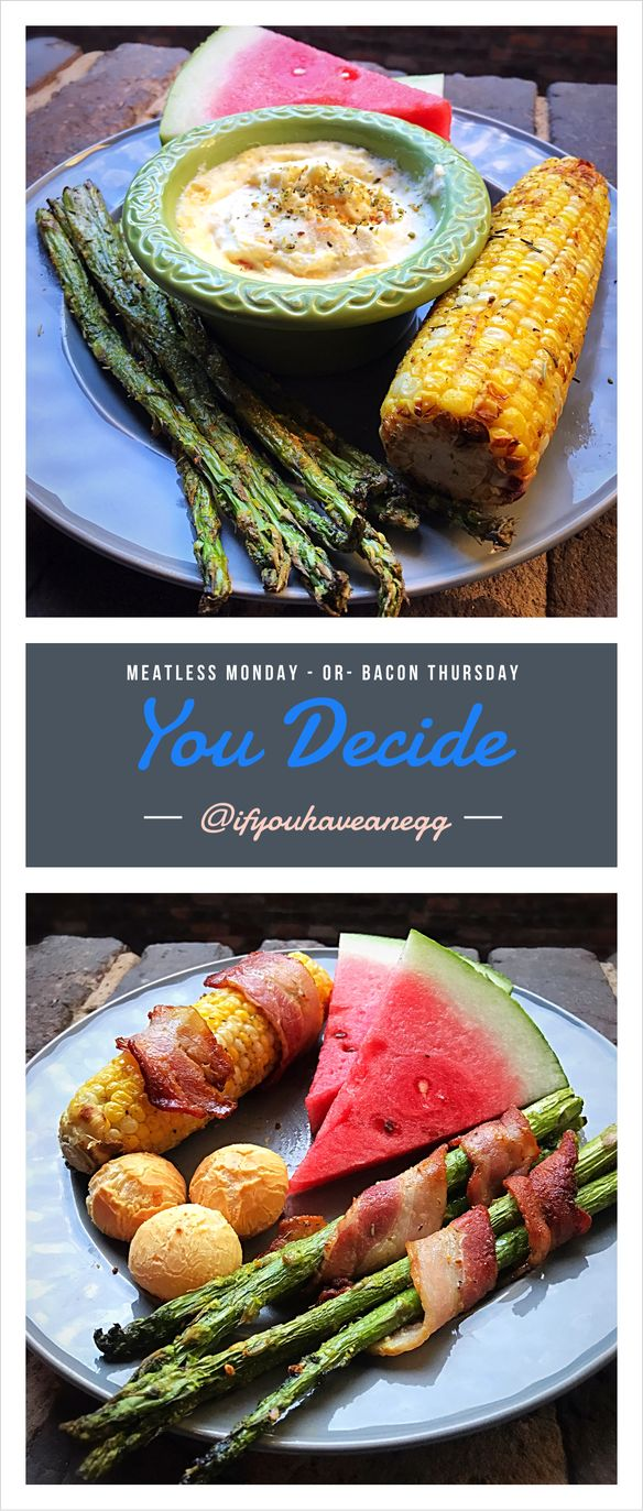 Meatless Monday or Bacon Thursday…you decide! Delicious meal Ideas including Smart Points!
