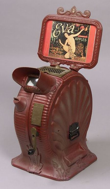 """Clamshell"" Mutoscope by American Mutoscope & Biograph Co., N.Y., with…"