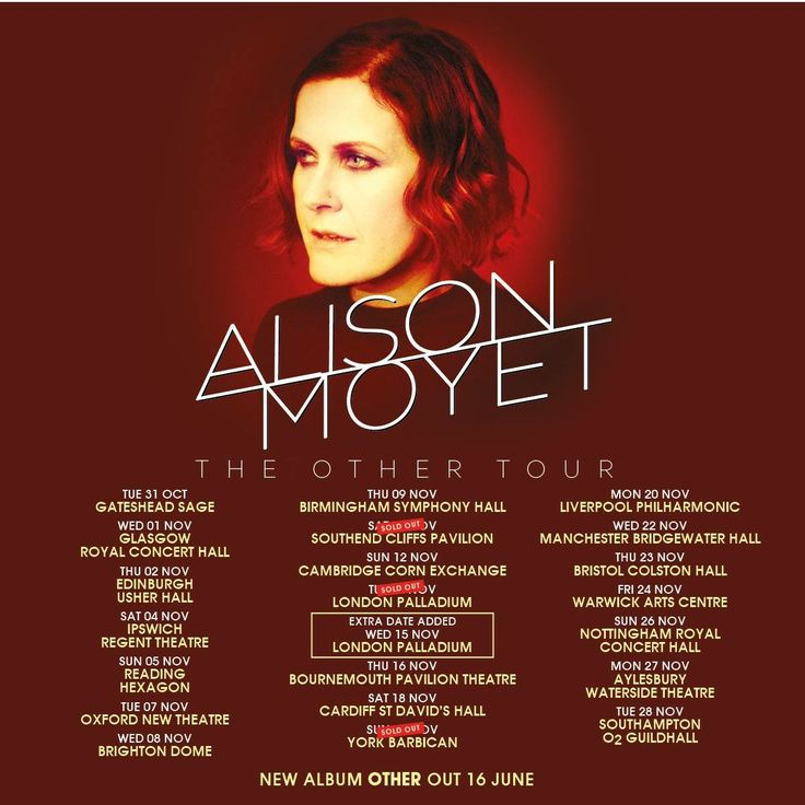 Alison Moyet, The Other Tour, The Sage Gateshead, 31 October 2017