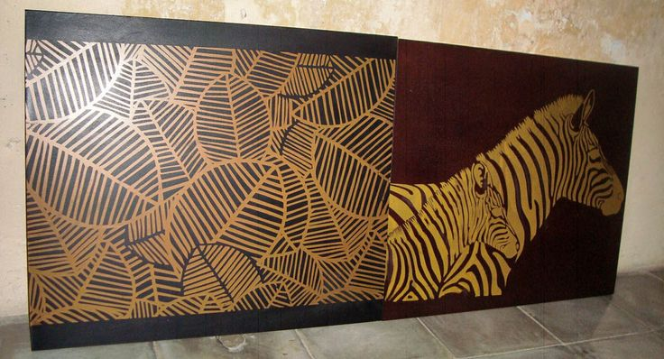 mdf panel brown finish with gold print
