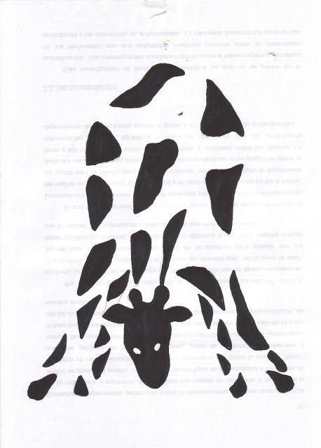 Ley del cierre: En la imagen existe una tendencia a completar la silueta de la jirafa.