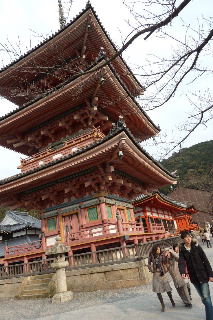 The ancient three-story pagoda at the Kiyomizu-dera temple in Kyoto. Photo: Spud Hilton / The Chronicle