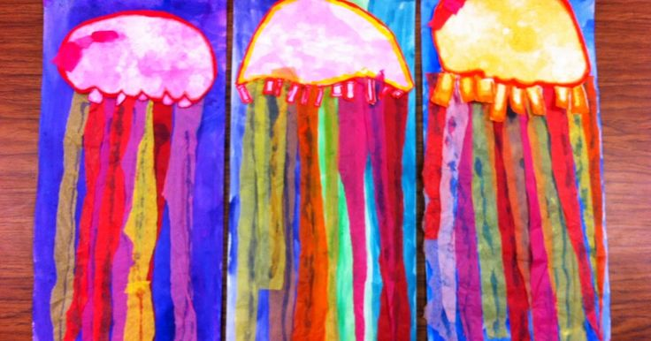This was a fun warm and cool color study with 3rd grade. We used liquid watercolors with dish soap and students printed bubbles they blew f...