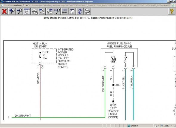 Fuel Pump Wiring Diagram V8 Two Wheel Drive Automatic 167000 in 2020 |  Diagram, Dodge pickup, FuelPinterest