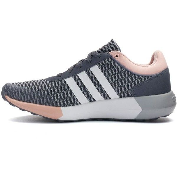 adidas NEO Cloudfoam Race Women's Sneakers ❤ liked on Polyvore featuring shoes, sneakers, adidas neo sneakers, adidas neo, adidas neo trainers and adidas neo shoes