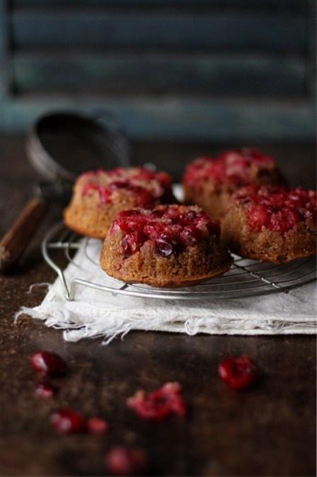 ... cranberry & almond upside down cake ...