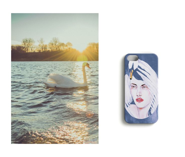 Mother nature //Ballet and Breadcrumbles iPhone case designed by Anna Salmi.