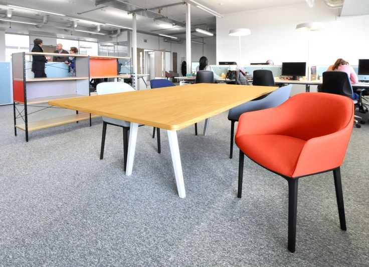 University of Bath - East Building: Vitra softshell chairs with Vitra Joyn desk and Vitra Eams unit.