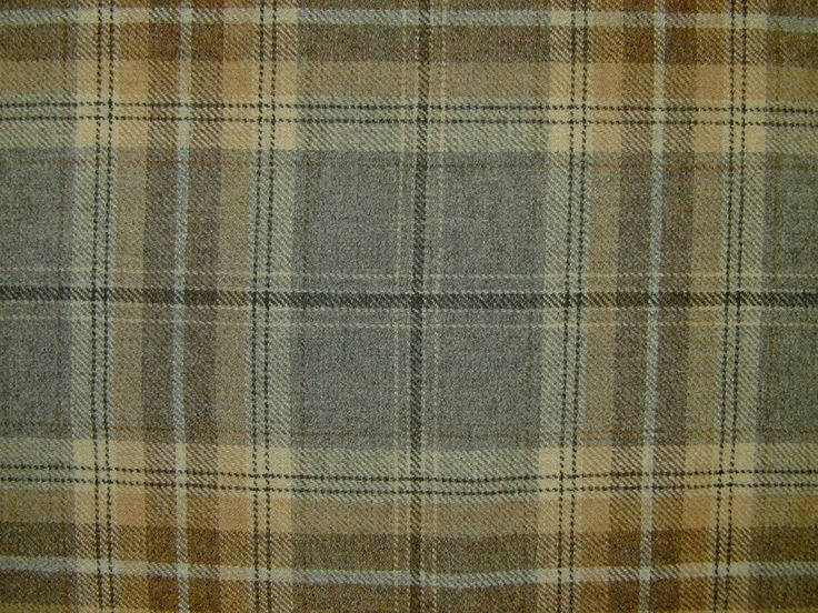 Wool Tartan Check Plaid Grey Sand Curtain Upholstery Fabric The Mill Online