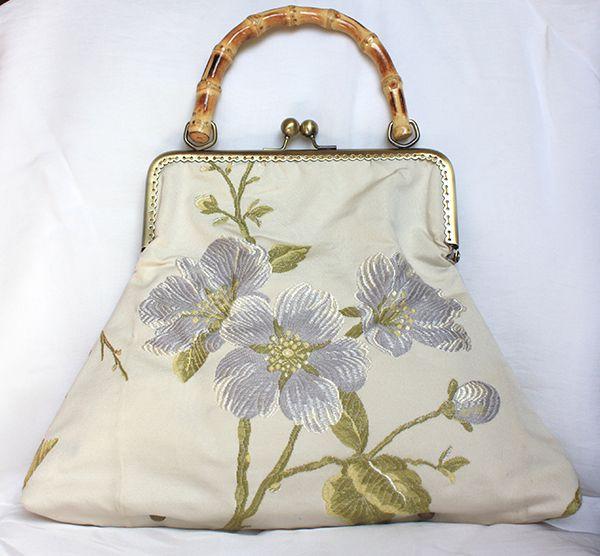 Retro Handbag bamboo damask wedding frame bag