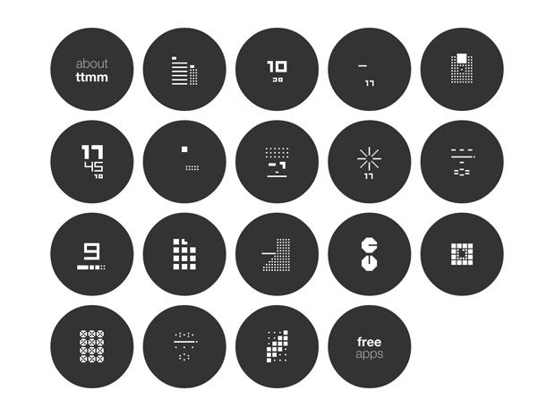 Ttmm After Time: Ultra Minimal Watch Face Designs for Smart Watches | Design.org