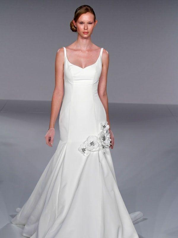 Stunning Priscilla of Boston Jewel Structured Trumpet Gown Nearly Newlywed Wedding Dress Shop