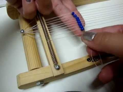 How to Tie Off and Add More Thread in Loom Work - YouTube