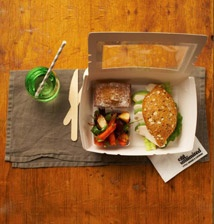 Gourmet lunchboxes from Egg Unlimited are one of our delicious lunch options.