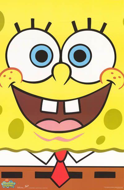 Spongebob Squarepants Portrait 2002 Cartoon Poster 22x34