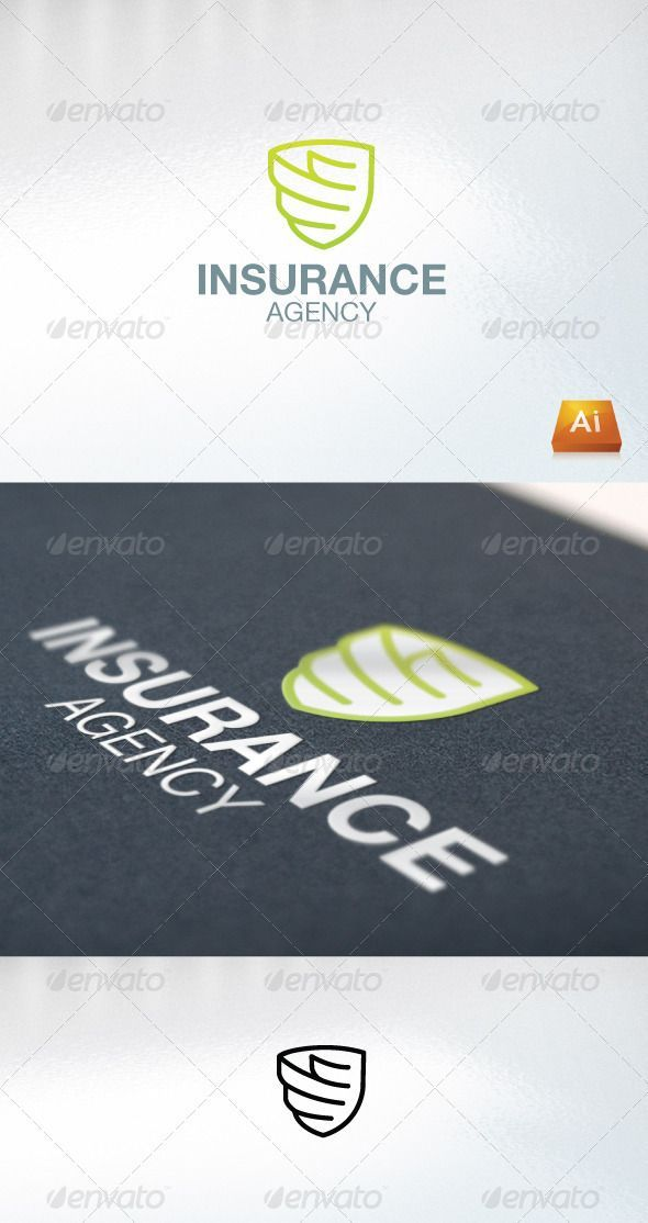 Insurance Agency Graphicriver Excellent Logo Simple And Unique One Agency Autoinsurance Excellent Graphicrive Insurance Agency Insurance Agency