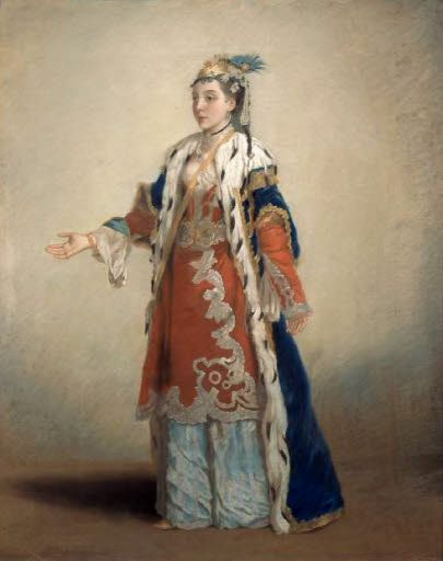 French lady in Constantionople by Liotard