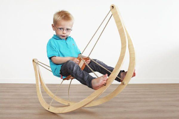 The GRO^ Rocking Horse Expresses Itself as a Minimalist Timber Frame #Timber #Furniture trendhunter.com