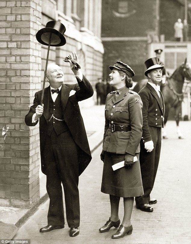 Top tales: Mary with her father Winston Churchill on his way to receive the Freedom of the City of London in 1943