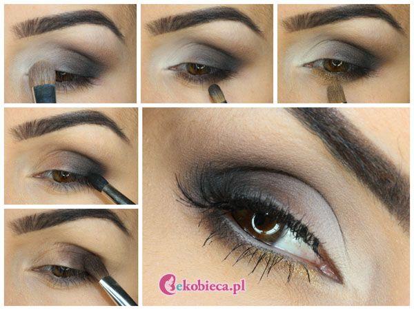 makijaż w odcieniach brązu i złota wykonany paletkami Sleek Au Naturel i Sunset. Opis wykonania makijażu krok po kroku znajdziecie na http://blog.ekobieca.pl/makijaz-w-odcieniach-brazu-i-zlota/