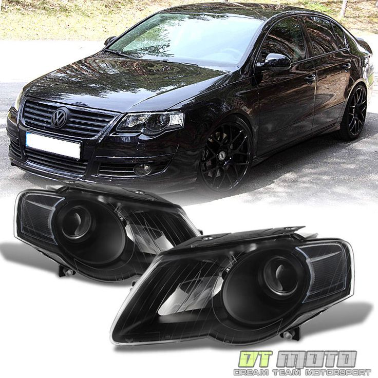 Cool Awesome Blk 2006 2007 2008 2009 2010 Volkswagen Passat Headlights Replacement Left+Right 2017-2018