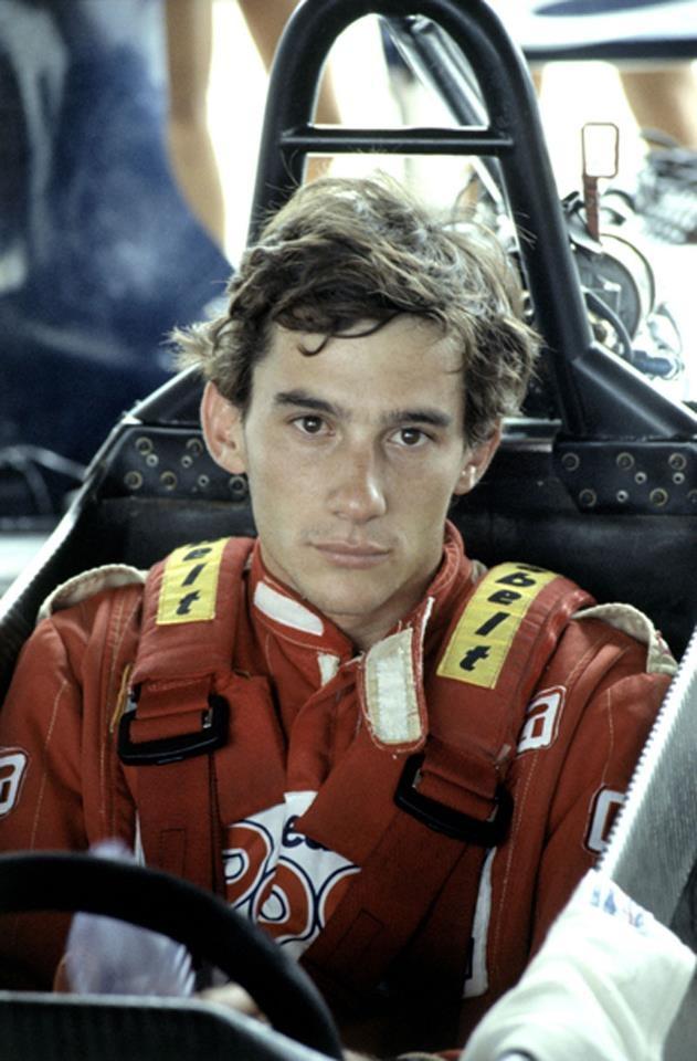 Ayrton Senna looking young and innocent