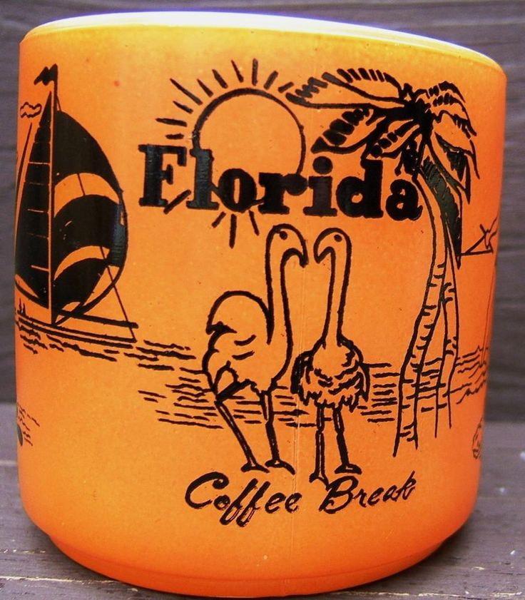 Check out Vintage FLORIDA COFFEE BREAK SOUVENIR FEDERAL GLASS Orange MUG USA FLAMINGOS  http://www.ebay.com/itm/Vintage-FLORIDA-COFFEE-BREAK-SOUVENIR-FEDERAL-GLASS-Orange-MUG-USA-FLAMINGOS-/160932510846?roken=cUgayN via @eBay