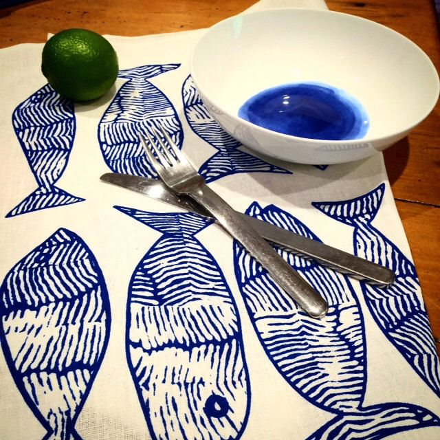 A personal favourite from my Etsy shop https://www.etsy.com/au/listing/266591450/blue-fish-screen-printed-tea-towel-byron