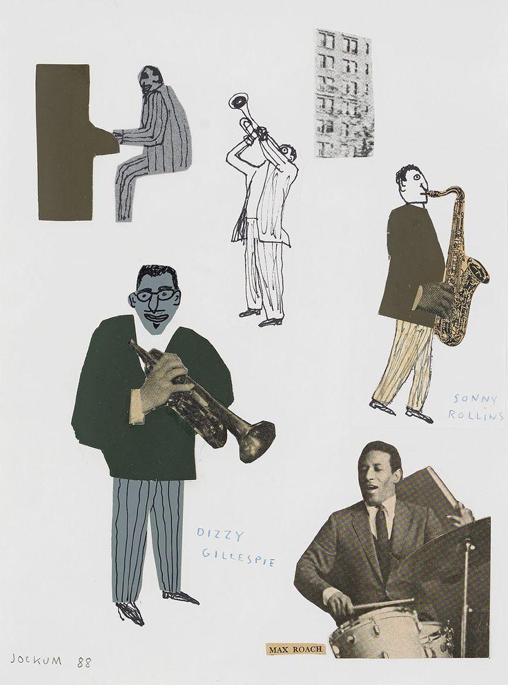 CollageSigned and dated, Jockum -88. Collage, blandteknik på papper, 27,5 x 20,5 cm.