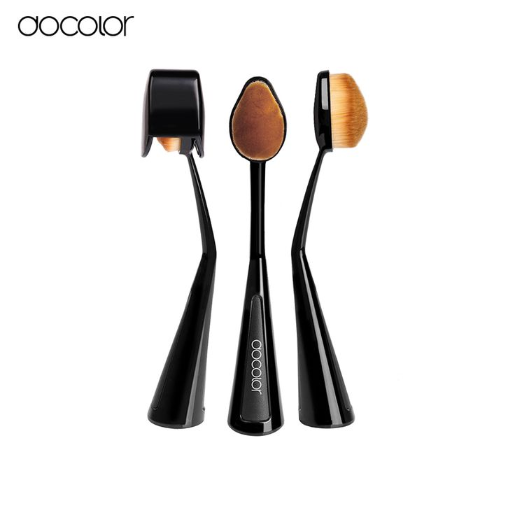 Docolor oval foundation brush with Lid 1pcs  Tooth Brush Shape Oval Makeup Brush  beauty essentials make up travel brush