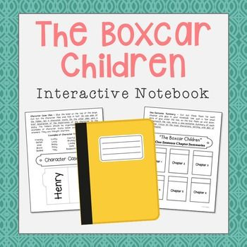 The Boxcar Children Interactive Notebook includes vocabulary terms, poetry, author biography research, themes, character traits, and chapter summary activities. A bookmark is included with plenty of room for creativity and note taking.