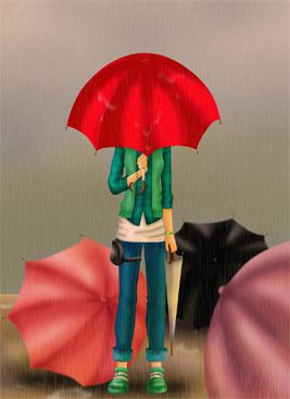 umbrella girl by larcENNI on DeviantArt
