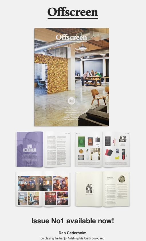 Offscreen Magazine By Kai Brach Brizk Newsletter LayoutEmail DesignNewsletter