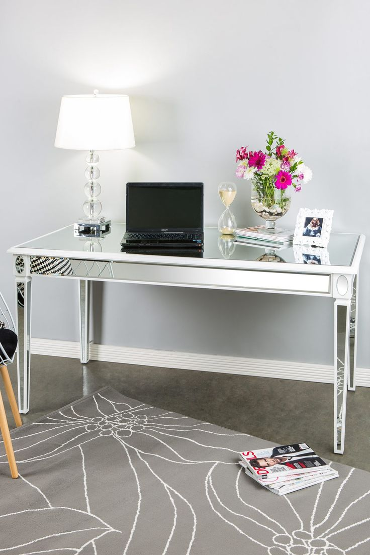 mirrored office furniture. lusetta mirrored desk office furniture