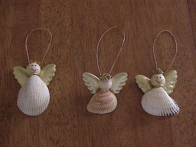 Seashell craft ideas collecting shells pinterest - Seashell ornaments to make ...